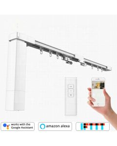 Remote Control DIY Smart Electric Curtain Tracks, built-in integration with Amazon Alexa and Google Home and IFTTT